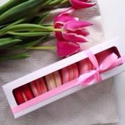Розовые макарони (6 шт.)