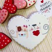 """Пряник-сердце """"Киски"""" в подарочной коробке"""
